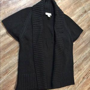 LOFT Short Sleeve Sweater Jacket Size XS